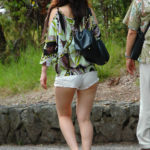 Candid Hawaii tourist