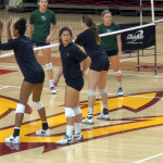 girls in spandex volleyball shorts