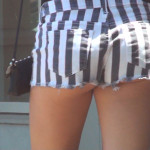 candid video of hot girls in denim shorts