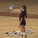 Candid College Volleyball Girls in Spandex Shorts