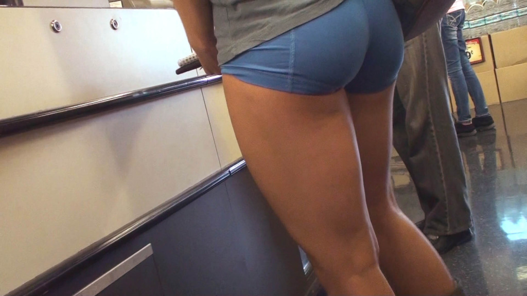 Ass In Spandex Shorts 46