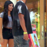 Beautiful spanish teen girl shopping