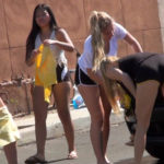 Teen Cheerleader Car Wash